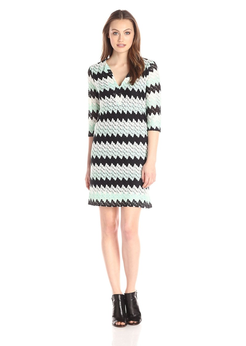 Karen Kane Women's Crochet Knit Shift Dress