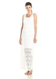 Karen Kane Women's Crochet Maxi Dress Off-White