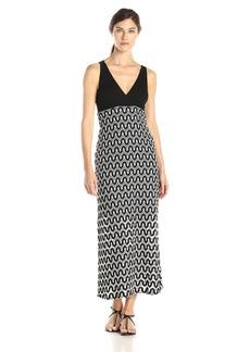 Karen Kane Women's Crochet Maxi Dress Black/Off-White