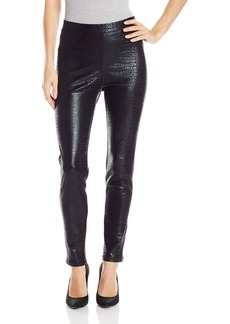 Karen Kane Women's Croco Faux Leather Pant  M