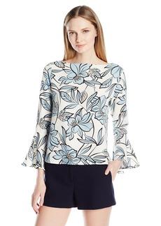 Karen Kane Women's Crop Flare Sleeve Top  XL