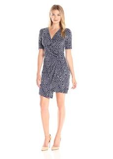 Karen Kane Women's Crossover Drape Dress  L