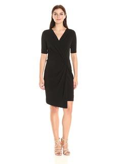 Karen Kane Women's Crossover Drape Dress  S
