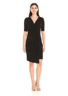 Karen Kane Women's Crossover Drape Dress  XL