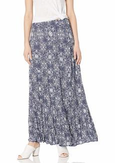 Karen Kane Women's Crushed Tiered Maxi Skirt