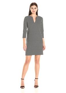 Karen Kane Women's Diamond Print Shift Dress  M