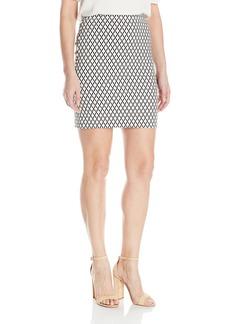 Karen Kane Women's Diamond Print Skirt Off/ M