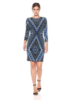 Karen Kane Women's Diamond Sheath Dress  XL