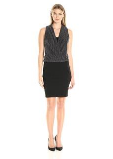 Karen Kane Women's Drape Front Dress  L