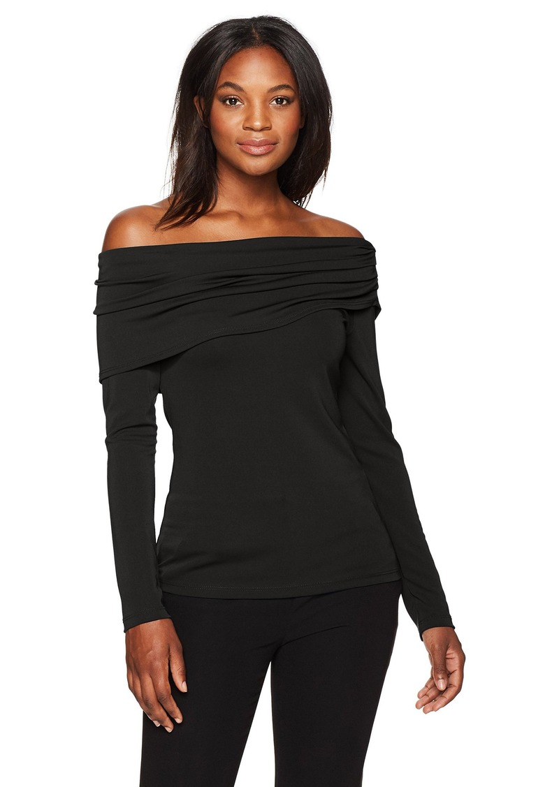 4228d7685794 Karen Kane Karen Kane Women s Drape Off-The-Shoulder Top XL