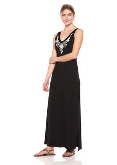 Karen Kane Women's Embroidered Alana Maxi Dress  XS