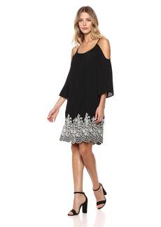 Karen Kane Women's Embroidered Cold Shoulder Dress  S