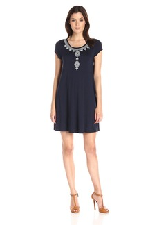Karen Kane Women's Embroidered Maggie Trapeze Dress