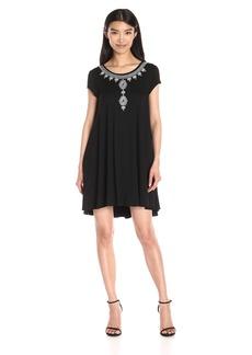Karen Kane Women's Embroidered Maggie Trapeze Dress