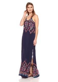 Karen Kane Women's Embroidered Maxi Dress  XL