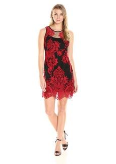 Karen Kane Women's Embroidered Net Dress  L