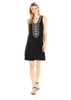 Karen Kane Women's Embroidered Sleeveless Dress  M