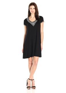Karen Kane Women's Embroidered T-Shirt Dress  M