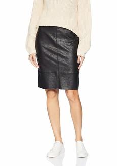 Karen Kane Women's Faux Leather Skirt