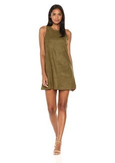 Karen Kane Women's Faux Suede a-Line Dress  M