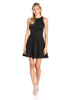 Karen Kane Women's Faux Suede Fit and Flare Dress  XL