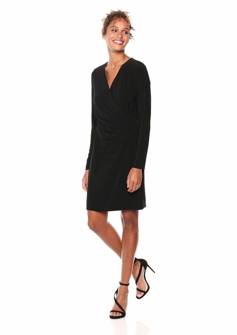 Karen Kane Women's Faux WRAP Dress  Extra Small