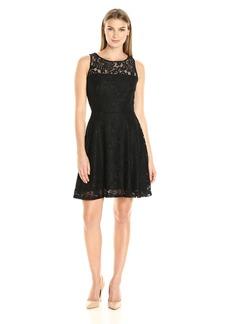 Karen Kane Women's Fit and Flare Lace Dress Black XL