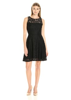 Karen Kane Women's Fit and Flare Lace Dress  L