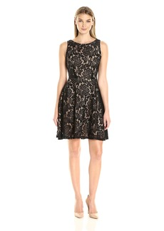 Karen Kane Women's Fit and Flare Lace Dress  S