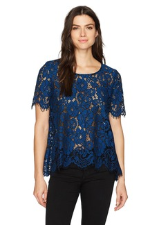 Karen Kane Women's Flare Lace Top  XS