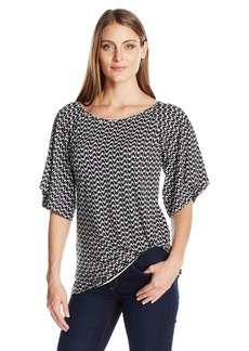 Karen Kane Women's Flare Sleeve Pick-up Top  L