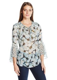 Karen Kane Women's Flare Sleeve Shirttail Top  S