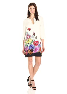 Karen Kane Women's Floral Border Shift Dress  M