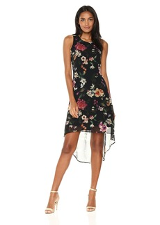 Karen Kane Women's Floral Hi-Lo Hem Dress  S