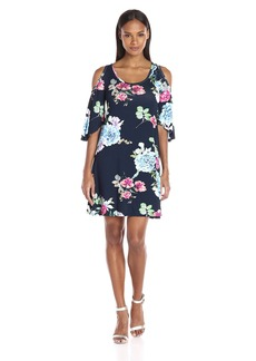Karen Kane Women's Garden Rose Cold Shoulder Dress  S
