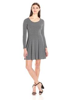 Karen Kane Women's Geo Diamond Flared Godet Dress  XS