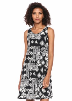 Karen Kane Women's GEO Print Chloe Dress Black with Off White