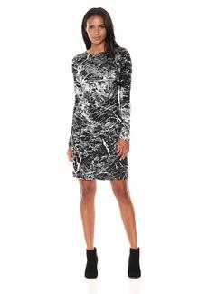 Karen Kane Women's Granite Print Dress  L