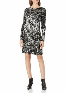 Karen Kane Women's Granite Print Dress  M