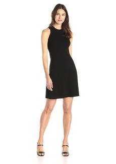 Karen Kane Women's Hi-neck A-line Dress black XL