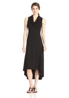 Karen Kane Women's Katie Cowl Neck Maxi Dress black L