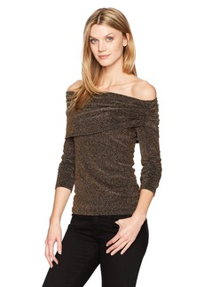 Karen Kane Women's Knit Off-The-Shoulder Top  XS
