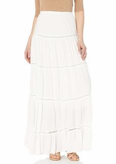 Karen Kane Women's LACE Inset Skirt Off  Extra Small