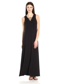 Karen Kane Women's Lace-up Maxi Dress  XL