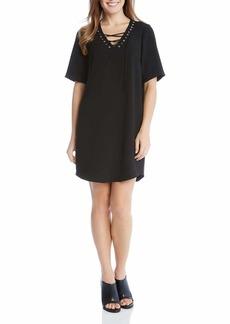 Karen Kane Women's Lace-up Shirttail Dress  S