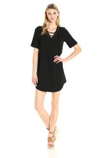 Karen Kane Women's Lace-up Shirttail Dress  XL