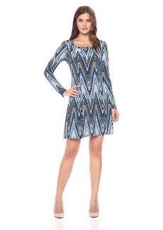 Karen Kane Women's Long Sleeve a-Line Dress  XL