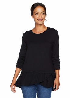 Karen Kane Women's Long Sleeve Contrast TOP