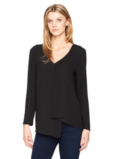 Karen Kane Women's Long Sleeve Draped Angle Top  XL