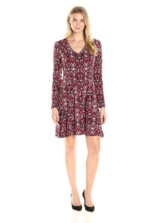 Karen Kane Women's Long Sleeve Fit and Flare Dress  S